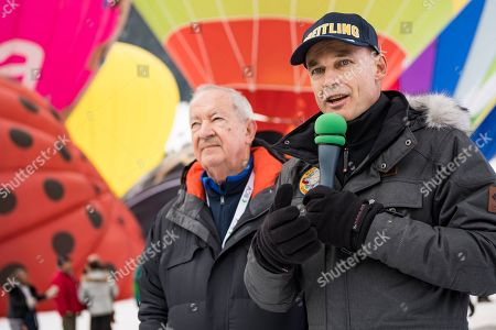 Editorial image of 41st Intl. Hot Air Balloon Week in Chateau d'Oex, Switzerland - 26 Jan 2019