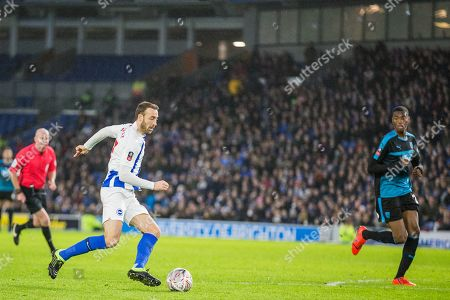 Glenn Murphy (Brighton) during the FA Cup fourth round match between Brighton and Hove Albion and West Bromwich Albion at the American Express Community Stadium, Brighton and Hove
