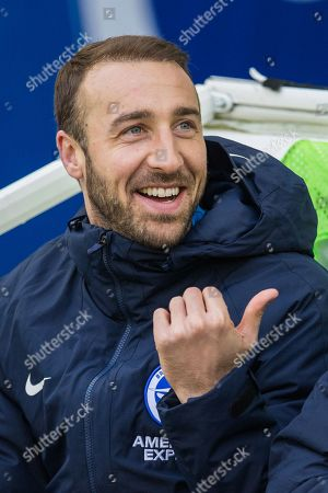 Glenn Murphy (Brighton) on the bench during the FA Cup fourth round match between Brighton and Hove Albion and West Bromwich Albion at the American Express Community Stadium, Brighton and Hove