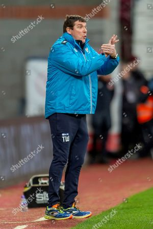 Tommy Wright, manager of St Johnstone FC during the Ladbrokes Scottish Premiership match between Heart of Midlothian FC and St Johnstone FC at Tynecastle Stadium, Edinburgh