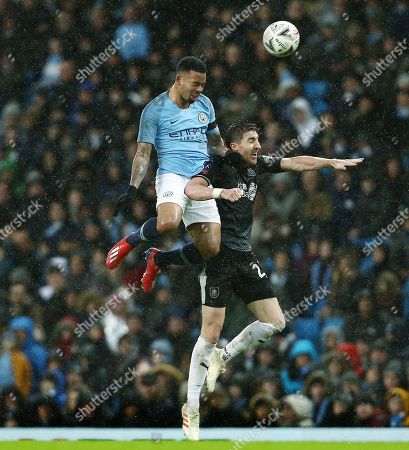 Gabriel Jesus of Manchester City and Stephen Ward of Burnley