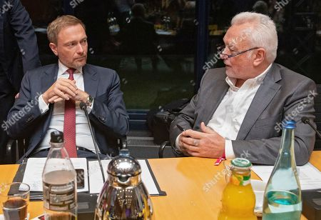 Free Democatic Party (FDP) chairman Christian Lindner (L) and vice chairman Wolfgang Kubicki (R) prior to a board meeting in Berlin, Germany, 26 January 2019. The Liberals will hold a party convention in Berlin on 27 January, where Beer is expected be elected as he FDP's top candidated for the European elections which will be held from 23 to 26 May.