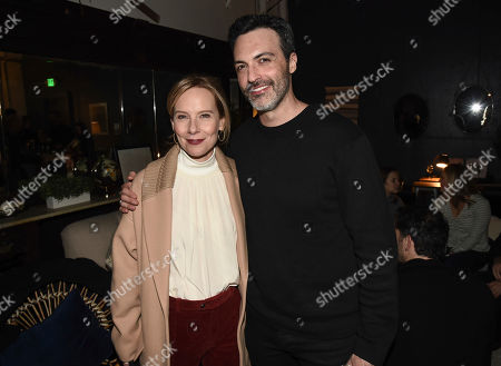 "Stock Photo of Amy Ryan, Reed Scott. Actress Amy Ryan, left, and actor Reed Scott seen at the Chase Sapphire hosted after party for ""Late Night"" at Chase Sapphire on Main at Sundance Film Festival 2019 on in Park City, Utah"