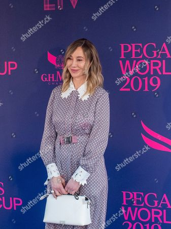 Stock Image of Belinda Stronach at the Pegasus World Cup on January 26, at Gulfstream Park in Hallandale Beach, Florida.