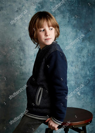 """Stock Image of James Quinn Markey poses for a portrait to promote the film """"The Hole in the Ground"""" at the Salesforce Music Lodge during the Sundance Film Festival, in Park City, Utah"""