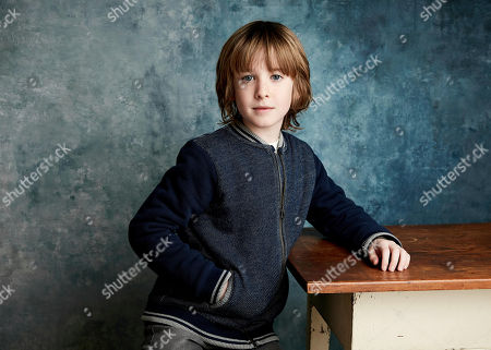 """Stock Photo of James Quinn Markey poses for a portrait to promote the film """"The Hole in the Ground"""" at the Salesforce Music Lodge during the Sundance Film Festival, in Park City, Utah"""