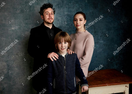 """Lee Cronin, James Quinn Markey, Seana Kerslake. Writer/director Lee Cronin, from left, James Quinn Markey, and Seana Kerslake pose for a portrait to promote the film """"The Hole in the Ground"""" at the Salesforce Music Lodge during the Sundance Film Festival, in Park City, Utah"""