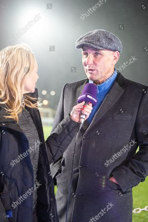 2fa9e714f362a Vinnie Jones is interviewed ahead of the The FA Cup fourth round match  between AFC Wimbledon