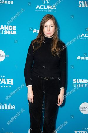 """Kate Lyn Sheil poses at the premiere of """"The Sound of Silence"""" during the 2019 Sundance Film Festival, in Park City, Utah"""
