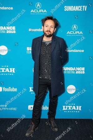 """Will Bates poses at the premiere of """"The Sound of Silence"""" during the 2019 Sundance Film Festival, in Park City, Utah"""
