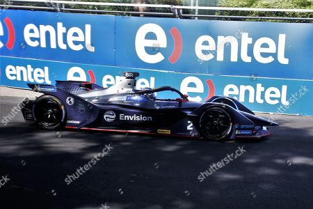 British driver Sam Bird of the team Envision Virgin Racing, runs the Santiago Grand Prix of Formula E, at the O'Higgins Park Circuit, in Santiago, Chile, 26 January 2019.The O'Higgins Park in the center of Santiago de Chile was transformed into a racing circuit for the 22 drivers participating in the third grand prize of the Formula E world championship.