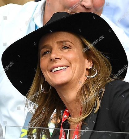 Australian actress Rachel Griffiths is seen in the crowd during the the men's singles final between Novak Djokovic of Serbia and Rafael Nadal of Spain at the Australian Open Grand Slam tennis tournament in Melbourne, Victoria, Australia, 27 January 2019.