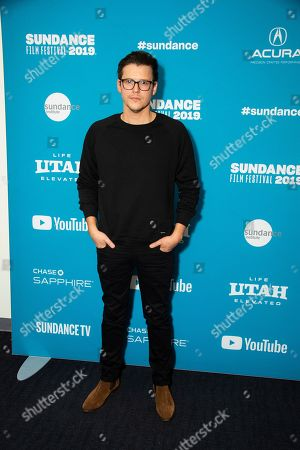 "Alistair Banks Griffin poses at the premiere of ""The Wolf Hour"" during the 2019 Sundance Film Festival, in Park City, Utah"