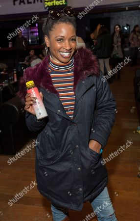 Shanola Hampton with the Lemon Perfect drink during the Last Call Presents the Complex Music in Film Summit, at Park City Live, in Park City, Utah