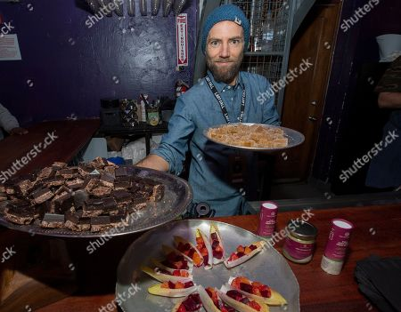 Stock Image of Chef Marcel Vigneron during the Last Call Presents the Complex Music in Film Summit, at Park City Live, in Park City, Utah