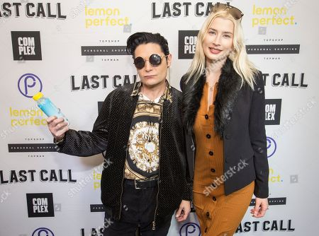 Corey Feldman, Courtney Anne Mitchell. Corey Feldman and wife Courtney Anne Mitchell with the Lemon Perfect drink at the Last Call Presents the Complex Music in Film Summit, at Park City Live, in Park City, Utah