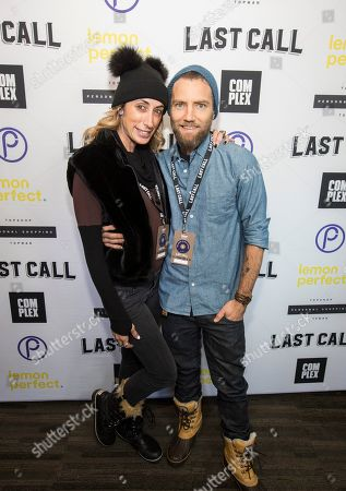 Stock Photo of Lauren Rae Levy, Marcel Vigneron. Celebrity Stylist Lauren Rae Levy and chef Marcel Vigneron during the Last Call Presents the Complex Music in Film Summit, at Park City Live, in Park City, Utah