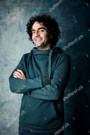 """Babak Anvari poses for a portrait to promote the film """"Wounds"""" at the Salesforce Music Lodge during the Sundance Film Festival, in Park City, Utah"""