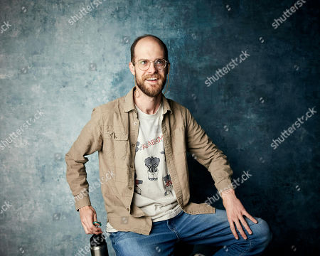 "Daniel Scheinert poses for a portrait to promote the film ""The Death of Dick Long"" at the Salesforce Music Lodge during the Sundance Film Festival, in Park City, Utah"