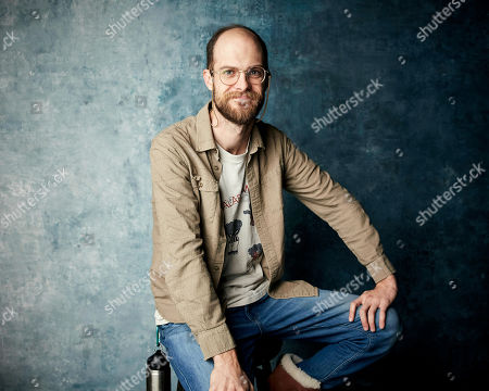 "Stock Photo of Daniel Scheinert poses for a portrait to promote the film ""The Death of Dick Long"" at the Salesforce Music Lodge during the Sundance Film Festival, in Park City, Utah"