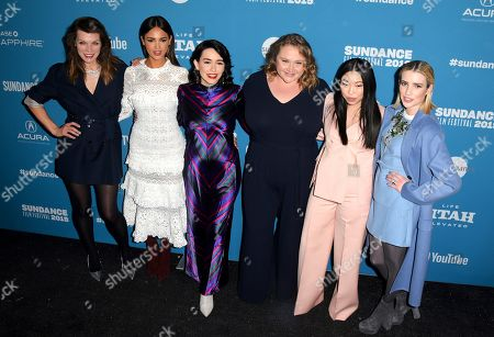 Milla Jovovich, Elza Gonzalez, Alice Waddington, Danielle Macdonald, Awkwafina and Emma Roberts