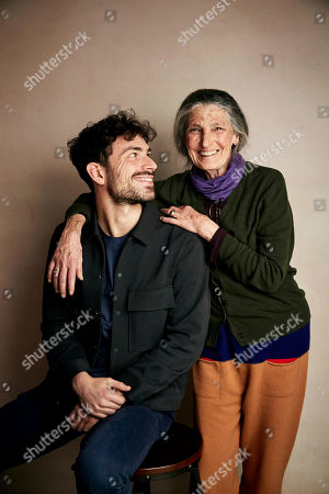 "Beniamino Barrese, Benedetta Barzini. Director Beniamino Barrese, left, and Benedetta Barzini pose for a portrait to promote the film ""The Disappearance of My Mother"" at the Salesforce Music Lodge during the Sundance Film Festival, in Park City, Utah"