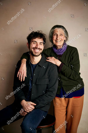 "Stock Picture of Beniamino Barrese, Benedetta Barzini. Director Beniamino Barrese, left, and Benedetta Barzini pose for a portrait to promote the film ""The Disappearance of My Mother"" at the Salesforce Music Lodge during the Sundance Film Festival, in Park City, Utah"