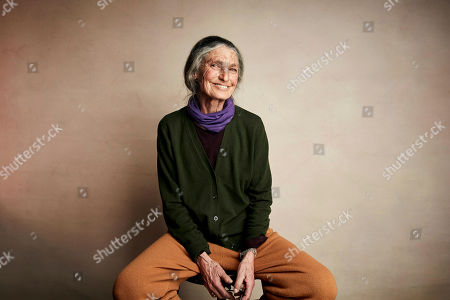 "Stock Photo of Benedetta Barzini poses for a portrait to promote the film ""The Disappearance of My Mother"" at the Salesforce Music Lodge during the Sundance Film Festival, in Park City, Utah"