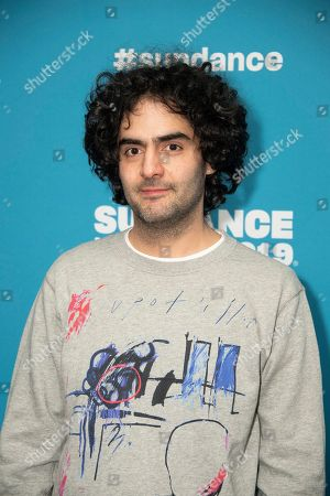 """Babak Anvari poses at the premiere of """"Wounds"""" during the 2019 Sundance Film Festival, in Park City, Utah"""