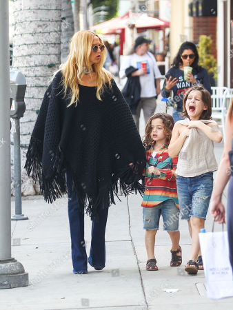 Stock Image of Rachel Zoe with her sons Skyler and Kai Berman