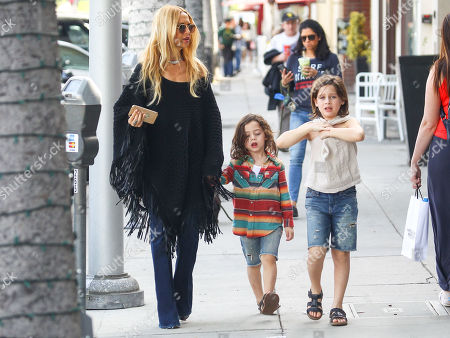 Stock Picture of Rachel Zoe with her sons Skyler and Kai Berman