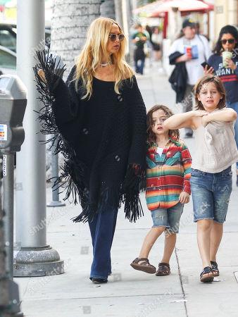 Rachel Zoe with her sons Skyler and Kai Berman