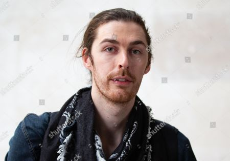Andrew Hozier-Byrne known by the mononym 'Hozier', leaves the BBC Studios. He had a big hit with the song, 'Take me to church'.