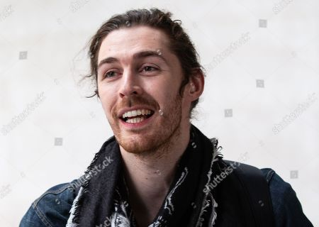 Stock Image of Andrew Hozier-Byrne known by the mononym 'Hozier', leaves the BBC Studios. He had a big hit with the song, 'Take me to church'.