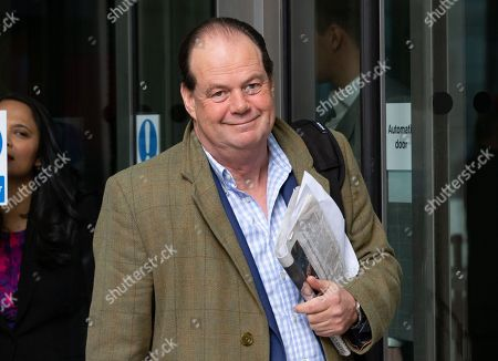 Stock Photo of Stephen Hammond MP, Minister of State at the Department of Health and Social Care, leaves the BBC Studios.