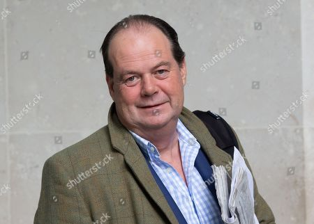 Stock Picture of Stephen Hammond MP, Minister of State at the Department of Health and Social Care, leaves the BBC Studios.