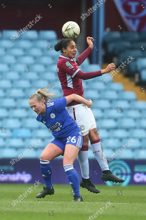 Jade Richards of Aston Villa and Libby Smith of Leicester City