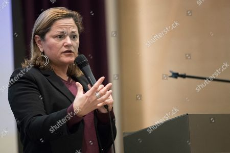 Melissa Mark-Viverito speaks during a public advocate candidate's forum at the The Lesbian, Gay, Bisexual & Transgender Community Center in New York. Mark-Viverito is considered a front runner in the field of 22 candidates seeking to succeed Letitia James as New York City's public advocate