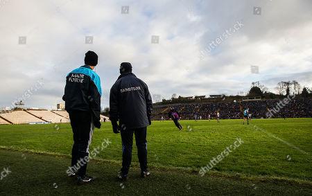 Monaghan vs Dublin. Dublin manager Jim Gavin with selector Paul Clarke