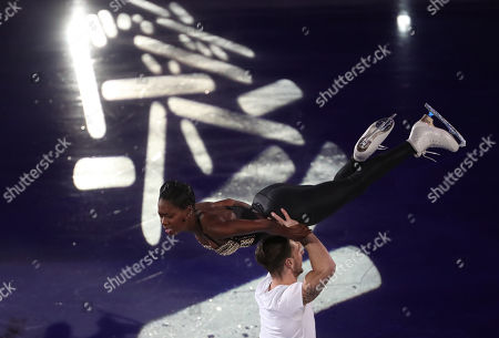 Vanessa James and Morgan Cipres of France perform during the Gala Exhibition ISU European Figure Skating Championships in Minsk, Belarus, 27 January 2019.