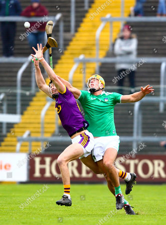 Wexford vs Limerick. Limerick's Dan Morrissey and Wexford's Jack O'Connor