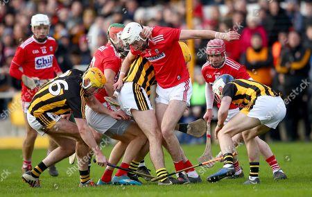 Kilkenny vs Cork. Cork's Tim O' Mahony with Billy Ryan and Liam Blanchfield of Kilkenny