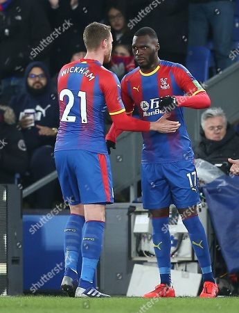 Connor Wickham of Crystal Palace is replaced by  Christian Benteke of Crystal Palace