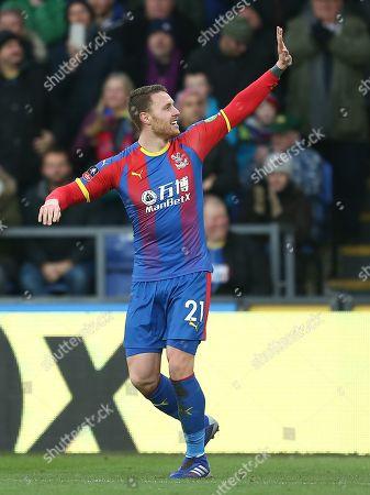 Connor Wickham of Crystal Palace celebrates scoring the opening goal