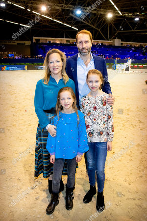 Princess Margarita Maria Beatriz of Bourbon-Parma, Tjalling ten Cate and their children Julia and Paola