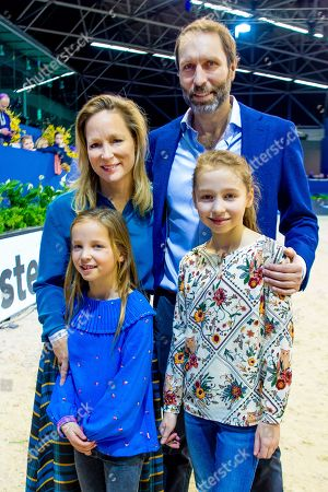 Princess Margarita Maria Beatriz of Bourbon-Parma and partner Tjalling ten Cate and children Julia and Paola