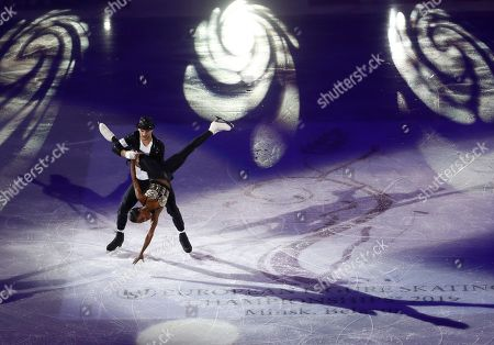 Vanessa James and Morgan Cipres of France perform during the gala exhibition at the ISU European figure skating championships in Minsk, Belarus