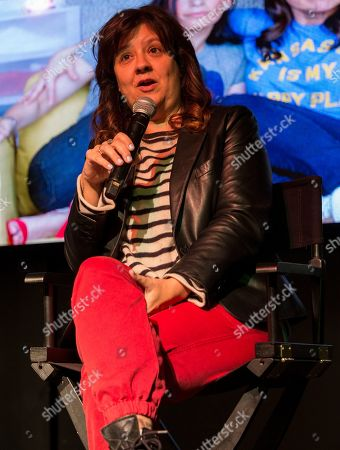 """Stephanie Laing during the """"Bootstrapped"""" panel at the Last Call Presents the Complex Music in Film Summit, at Park City Live, in Park City, Utah"""