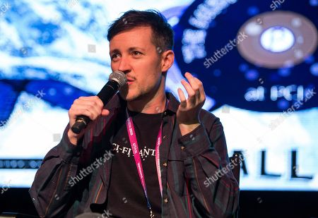 """Rhys Ernst during the """"Adam"""" panel at the Last Call Presents the Complex Music in Film Summit, at Park City Live, in Park City, Utah"""