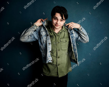 """Stock Picture of Max Burkholder poses for a portrait to promote the film """"Imaginary Order"""" at the Salesforce Music Lodge during the Sundance Film Festival, in Park City, Utah"""
